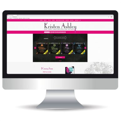 Custom Website for New York Times Bestselling Author Kristen Ashley
